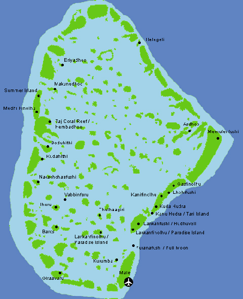 Karte: Nord Male Atoll